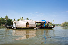A houseboat in the backwaters Royalty Free Stock Photo