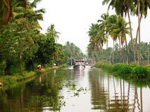 Houseboat backwaters canal Stock Images