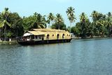Houseboat in backwaters of Kerala Royalty Free Stock Image