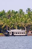 A houseboat  on the backwaters of Kerala, India Stock Image