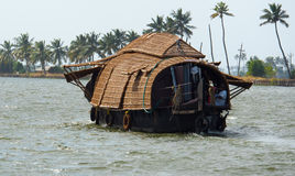 Houseboat in the backwaters. Of Kerala, India Royalty Free Stock Photos