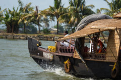 Houseboat in the backwaters Stock Photo