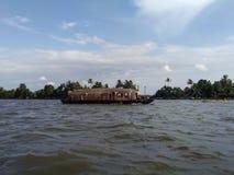 Kerala Backwaters Houseboat Stock Photo