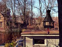 Houseboat on a canal Royalty Free Stock Image
