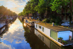 Houseboat canal Stock Image