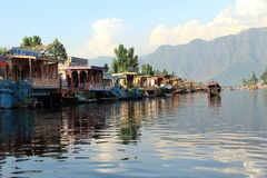 Houseboat in Dal Lake. Royalty Free Stock Images
