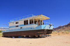 Houseboat in the Desert Stock Photo