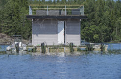 Houseboat at the Five-sea Royalty Free Stock Photo