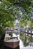 Houseboat. Float in amsterdam canel,Netherland Stock Images