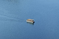 Houseboat. Floating in the dam Stock Photos