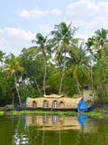Houseboat - fully furnished bedrooms. Kerala Royalty Free Stock Photo