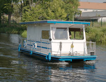 Houseboat in the Havel Royalty Free Stock Photography