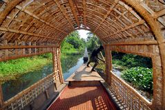 Houseboat i Kerala Royaltyfri Bild