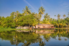 Houseboat in India Royalty Free Stock Image