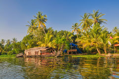 Houseboat in India Stock Image