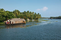 Houseboat on Kerala backwaters Stock Photography