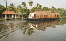 Houseboat in kerala backwaters Stock Images