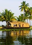 Houseboat on Kerala Backwaters, India Stock Image