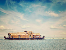 Houseboat in Kerala, India Royalty Free Stock Photo