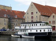 Houseboat, Kopenhaga Obrazy Stock
