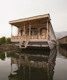 Houseboat in a lake, Dal Lake, Srinagar, Jammu And Kashmir, Indi Stock Photography