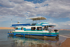 Houseboat on Lake Powell. Houseboat vacation on Lake Powell in Utah Stock Image