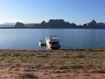 Houseboat Lake Powell Royalty Free Stock Photography