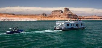 Houseboat on Lake Powell Stock Photos