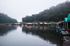 Houseboat in Mae Ngad dam Chiangmai Thailand Royalty Free Stock Photography