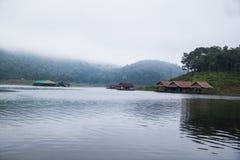 Houseboat in Mae Ngad dam Chiangmai Thailand Stock Image