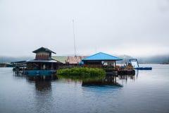Houseboat in Mae Ngad dam Chiangmai Thailand Royalty Free Stock Photo