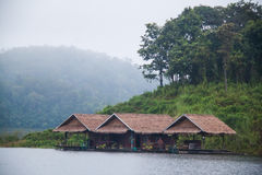 Houseboat in Mae Ngad dam. Chiangmai Thailand Royalty Free Stock Photography