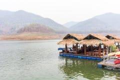 Houseboat in Mae Ngad dam, Chiangmai Thailand Stock Photography