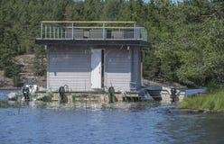 Houseboat przy morzem Obraz Stock