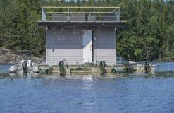 Houseboat przy morzem Zdjęcie Royalty Free