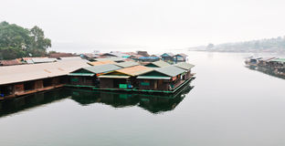 Houseboat on the reservior Royalty Free Stock Photos