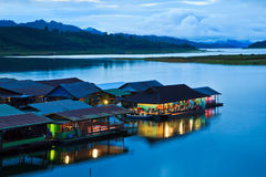 Houseboat resort Stock Image