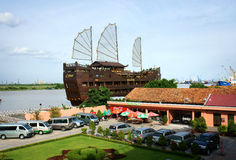 Houseboat, restaurant, nha rong port Royalty Free Stock Images