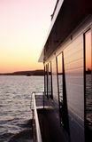 Houseboat on the River stock photography