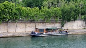 Houseboat on the River Seine in Paris, France Stock Photo