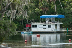 Houseboat on Silver Glen Springs Royalty Free Stock Image