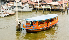 Houseboat in Thailand. Houseboat in the liver,Thailand Stock Images
