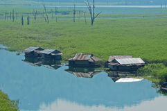 houseboat Thailand zdjęcie royalty free