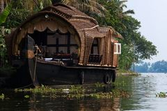 Houseboat tour. In the backwaters in Kerala state india Stock Photos