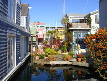 Houseboat village Granville Island Stock Images