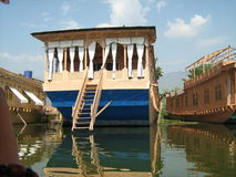 Houseboat wewnątrz cumujący w Dal Lake-16 Fotografia Royalty Free