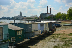 Houseboats Along The River Thames Royalty Free Stock Photography