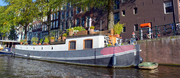 Houseboats Stock Photo