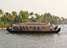 Houseboats on the back waters. Two no.s of house boats passing each other in serene and tranquil back waters of Kerala, a South Indian province Stock Photo