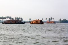 A houseboats on the backwaters Royalty Free Stock Photos